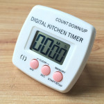 Kitchen Timer Digital Electronic Loud Alarm Magnetic Backing With Holder for Cooking Baking Sports Games Office(Pink)