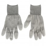 Anti Static ESD Safe Universal Size PU Fingertip Coating Gloves for Computer / Electronic / Phone Repair, Pair of 2(Grey)