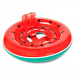 Kids Summer Water Fun Inflatable Watermelon Shaped Pool Ride-on Swimming Ring Floats, Outer Diameter: 87cm
