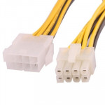 8 Pin SATA Male to 8 Pin Female Power Cable, Length: 20cm