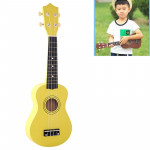 HM100 21 inch Basswood Ukulele Children Musical Enlightenment Instrument (Yellow)
