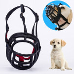 Dog Muzzle Prevent Biting Chewing and Barking Allows Drinking and Panting, Size: 6.8*6.3*7.8cm(Black)