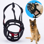 Dog Muzzle Prevent Biting Chewing and Barking Allows Drinking and Panting, Size: 11.2*10.7*14.3cm(Black)