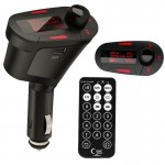 Car MP3 Player Wireless FM Transmitter with Remote Control and 1.1 inch Screen, Support USB and SD / MMC Card Slot