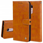 For Xiaomi Redmi 5 Plus Oil Wax Texture Horizontal Flip Leather Case with Holder & Card Slots & Wallet(Brown)