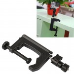 Table Clamp Desktop Holder Mount + Tripod Adapter for GoPro HERO4 / 3+ / 3 / 2 / 1, Clamp Size: 1 - 6 cm