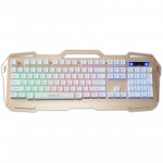 iMICE AK-400 USB Interface 104 Keys Wired Colorful Backlight Gaming Keyboard for Computer PC Laptop(Gold)