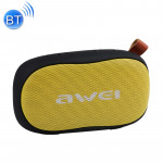 awei Y900 Mini Portable Wireless Bluetooth Speaker Noise Reduction Mic, Support TF Card / AUX(Black+Yellow)