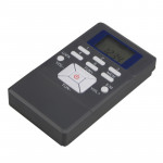 Portable Mini Frequency Modulation Digital LCD Display Radio Receiver with Earphone Jack & Lanyard
