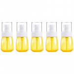 5 PCS Travel Plastic Bottles Leak Proof Portable Travel Accessories Small Bottles Containers, 30ml(Yellow)