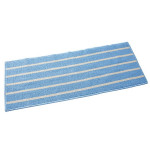 Striped Non Slip Shaggy Soft Water Absorption Bedroom Bathroom Carpet Mat, Size: 43*110cm(Blue)