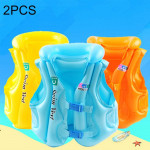 2 PCS B Code Float Inflatable Life Jacket Swimsuit, Size: Medium, Random Color Delivery