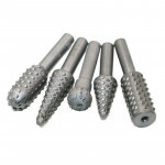 5 PCS/Set Woodworking Wood Carving 6mm Shank Rotating Embossed Grinding Head File Rasp Drill Bits