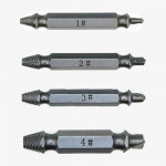4 in 1 Screw Extractor Drill Bits Tool Broken Bolt Remover(1#,2#,3#,4#), with Plastic Case