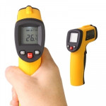 Infrared Thermometer, Temperature Range: -50 - 380 Degrees Celsius(Yellow)