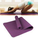 6mm Thickness Eco-friendly TPE Anti-skid Home Exercise Yoga Mat, Size:183*61cm(Dark Purple)