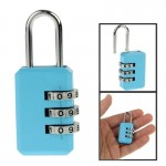 3 Digit Resettable Combination Security Travel Lock(Blue)