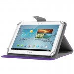 Universal Crazy Horse Texture Horizontal Flip Leather Case with Holder for 10 inch Tablet PC(Purple)