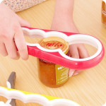 4 in 1 Multi-function Bottle Opener Home Safe Open Cans Anti-skid Cap Kitchen Tool, Random Color Delivery