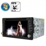 Rungrace Universal 6.2 inch Windows CE 6.0 TFT Screen In-Dash Car DVD Player with Bluetooth / GPS / RDS