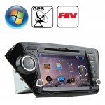 Rungrace 8.0 inch Windows CE 6.0 TFT Screen In-Dash Car DVD Player for KIA K2 with Bluetooth / GPS / RDS / ATV