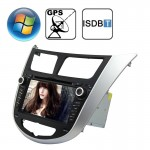 Rungrace 7.0 inch Windows CE 6.0 TFT Screen In-Dash Car DVD Player for Hyundai Verna with Bluetooth / GPS / RDS / ISDB-T