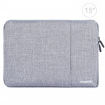 Sacoche ordinateur porte-documents pour sacoches portable, Macbook, Samsung, Lenovo, Sony, Dell, Alienware, CHUWI, ASUS, ordinateurs portables de 15 pouces & moins gris