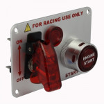 Electroplating Flip-up Start Ignition Switch Panel and Accessories for Racing Sport (DC 12V)