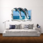 Wall Decor 3D Animal Removable Wall Stickers, Size: 92cm x 58cm