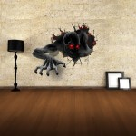Sticker Mural Stickers muraux amovibles 3D Terror Wall Decor, Taille: 68cm x 58cm - Wewoo