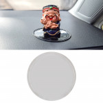 Car Auto Round Soft Rubber Dashboard Anti-slip Pad Mat for Phone / GPS/ MP4/ MP3, Diameter: 8cm (Transparent)