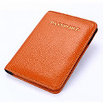 Litchi Texture Multifunctional Genuine Leather Passport Package for travel(Brown)