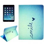 Smile Pattern Smart Leather Case with Holder & Card Slots & Wallet & Wake-up / Sleep Function for iPad Air 2 / iPad 6