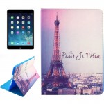 Tower Pattern Smart Leather Case with Holder & Card Slots & Wallet & Wake-up / Sleep Function for iPad Air 2 / iPad 6