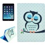 Owl Pattern Smart Leather Case with Holder & Card Slots & Wallet & Wake-up / Sleep Function for iPad Air 2 / iPad 6