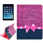 Leopard Texture Bowknot Pattern Smart Leather Case with Holder & Card Slots & Wallet & Wake-up / Sleep Function for iPad Air 2 /