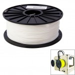 ABS 1.75 mm Color Series 3D Printer Filaments, about 395m(White)