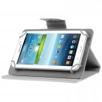 Universal Crazy Horse Texture Horizontal Flip Leather Case with Holder for 8 inch Tablet PC(White)