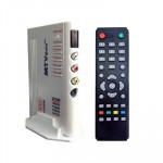 1920x1200 HD LCD TV-Box with Remote Control, TV (PAL-BG+PAL-DK), Silver(Silver)