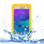 IPX8 TPU + PC Waterproof Protective Case with Lanyard for Galaxy Note 5 / N920(Yellow)