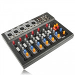 Professional 7 Channel Mixing Console and Aux Paths Plus Effects Processor