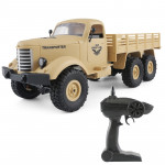 JJR/C Q60 Transporter-1 Full Body 1:16 Mini 2.4GHz RC 6WD Tracked Off-Road Military Truck Car Toy (Yellow)