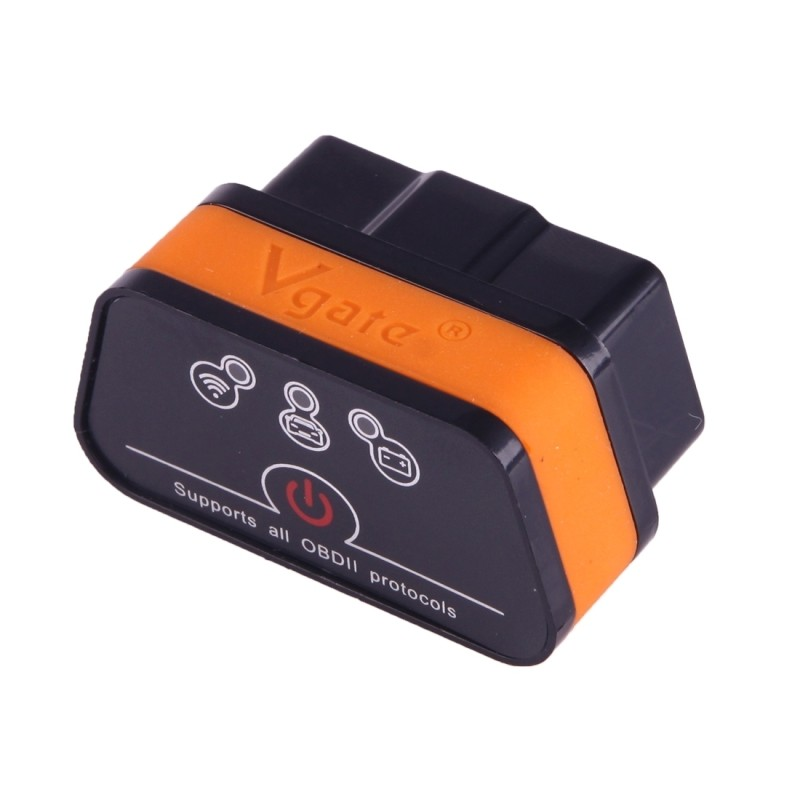 Vgate iCar II Super Mini ELM327 OBDII WiFi Car Scanner Tool, Support  Android & iOS, Support All OBDII Protocols (Orange + Black) - Wewoo