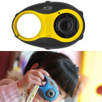5MP 1.5 inch Color Screen Mini Keychain Type Gift Digital Camera for Children (Yellow)