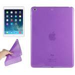 Smooth Surface TPU Protective Case for iPad Air (Dark Purple)