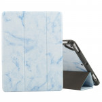Marble Texture Pattern Horizontal Flip Case for iPad 9.7 (2018) , with Three-folding Holder & Pen Slots(Blue)