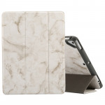 Marble Texture Pattern Horizontal Flip Case for iPad 9.7 (2018) , with Three-folding Holder & Pen Slots(Grey)