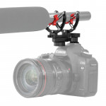 BOYA BY-C40 Camera Microphone Shock Mount Holder Clip with Hot Shoe