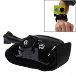 Velcro Arm Belt / Wrist Strap + Connecter Mount for Xiaomi Xiaoyi Sport Camera(Black)