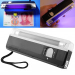 Handheld Blacklight UV Lamp & LED Flashlight, Verify Hidden Security Features On banknotes and Passport(Black)